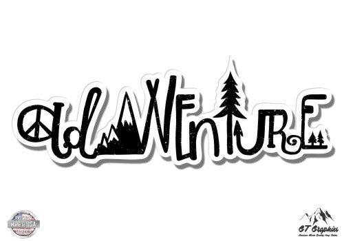 GT Graphics Adventure Nature Outdoor Mountains Hike - Vinyl Sticker Waterproof Decal