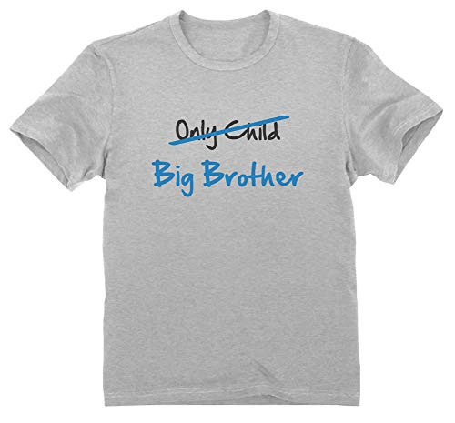 Regalo Hermano Mayor - Only Child to Big Brother - 3/4 Años 104cm Gris