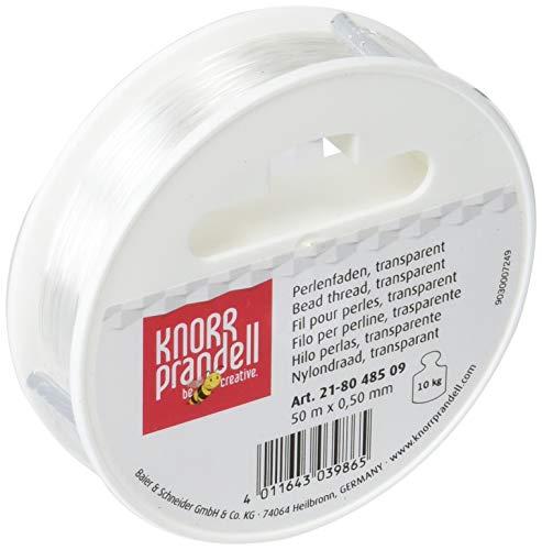 Gütermann / KnorrPrandell 8048509 - Filo perlon 0,50mm Ø, 50 metri, colore: Trasparente