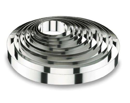 Lacor-68516-ROUND CAKE RING 16x4,5 CM.- STNLS