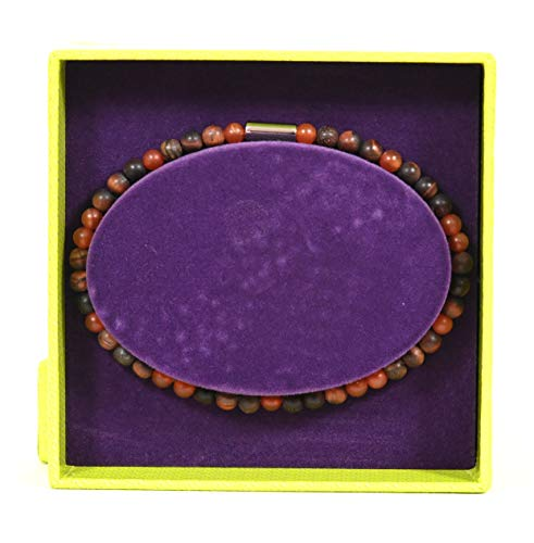 Ted Baker Wayves Semi Precious Beaded Bracelet in Red and Brown