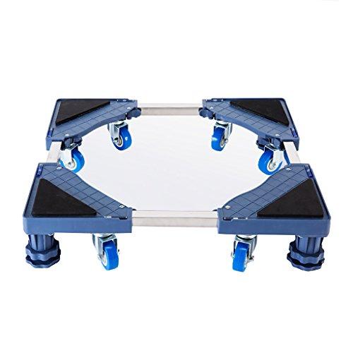 NUBAO multifunctionele beweegbare verstelbare basis, vaste voeten, roterende wiel combinatie van toepassing op wasmachine droger koelkast Airconditioning 2 stijlen grijs