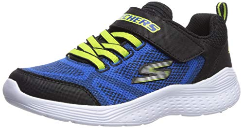 Skechers Kids Boys' Snap Sprints 97546L Sneaker, Blue/Black, 1.5 Medium US Little Kid