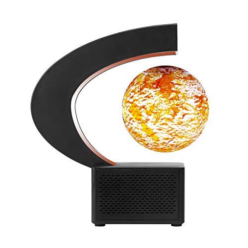Docooler magnetisch schwebende Mondlampe BT-Lautsprecher 3,5-Zoll-3D-gedruckter schwebender Globus Mondlicht, das Sich in der Luft dreht Mondnachtlicht mit LED-Licht C-Form Basis Geburtstagsgeschenk