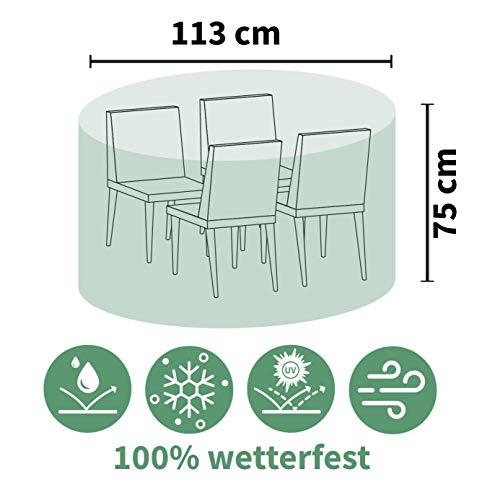 acamp Schutzhülle für Tisch, rund Gartenmöbel, Anthrazit