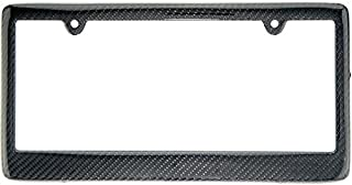 REAL 100% CARBON FIBER LICENSE PLATE FRAME TAG COVER FF