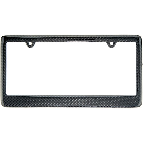 BLVD-LPF OBEY YOUR LUXURY Real 100% Carbon Fiber License Plate Frame Tag Cover FF (Black)