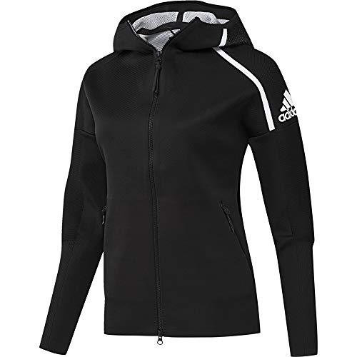 adidas W Zne Pk Damen-Sweatshirt M schwarz / weiß