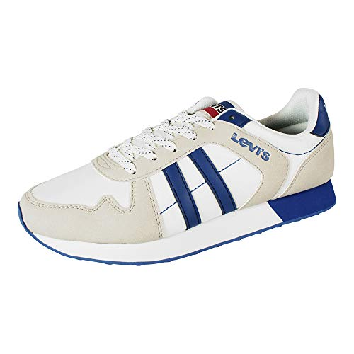LEVI'S Webb Zapatillas Moda Hombres Blanco/Azul - 42 - Zapatillas Bajas