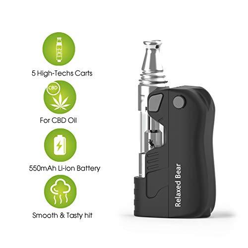 vaporizador,Atman® PUG CBD oil vaporizador(510 hilo) con bobina de cerámica cbd vape cartridge (0.8ml) compatible recargable e-liquid vaporizer pen,sin nicotina