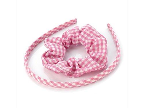 Vichy Rose bandeau et chouchou cheveux Brand Accessoire d'été pour les uniformes scolaires.