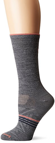 Smartwool Damen Socken Phd Outdoor Ultra Light Crew Socken, Medium Grey, L (EU 42-45)