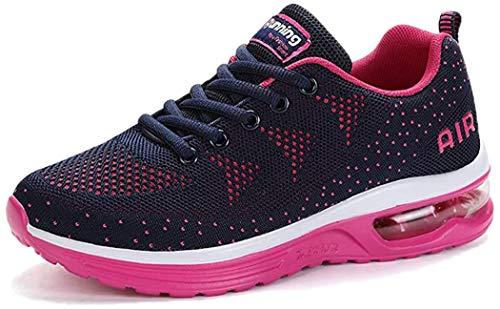 Damen Sportschuhe Herren Laufschuhe mit Luftpolster Turnschuhe Sneakers Leichte Sport Schuhe Outdoor Trainers Blue01-39 EU
