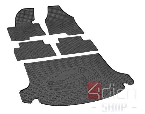 Passgenaue Kofferraumwanne und Gummifußmatten geeignet für KIA Sportage ab 2010 + Autoschoner MONTEUR
