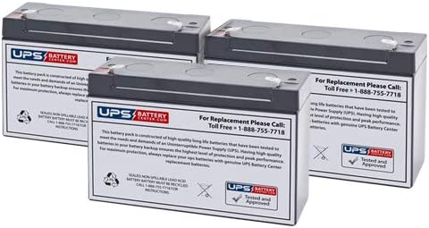 Set of 3 Ranking integrated 1st place 6V Sales 12Ah F2 Lead Sealed Replacement Battery fo Acid