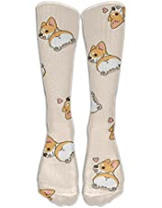 ZWZ Socks Corgi Butt Colorful Patterned Stockings Long Knee High Stockings Tights One Size