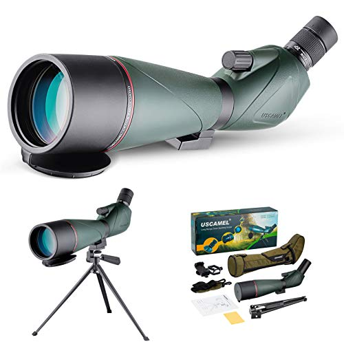 Spotting Scope 20-60X80 Waterproof Birdwatching Monocular Telescope HD with Phone Adapter + Tripod for Archery, Safari Sightseeing, Stargazing, Camping