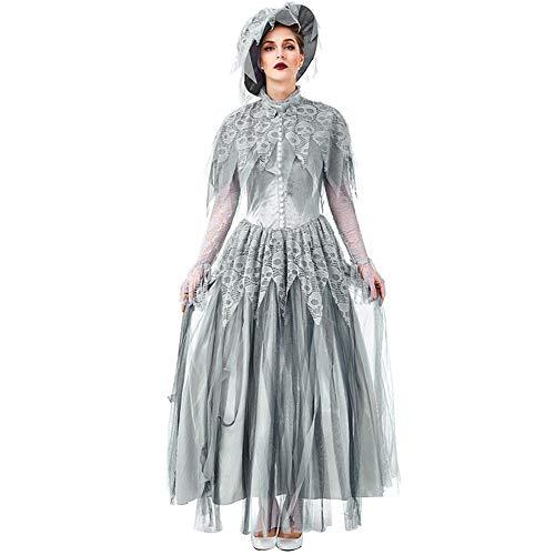 HONGBI Vestido Largo Mujeres Disfraz Mujer Medieval