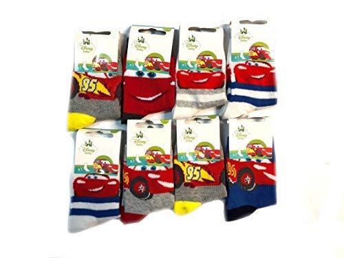 Lot de 6 Chaussettes Coton DISNEY CARS à la Mode Doux Durable Confortable pour Bébé T: 19-22 - D11