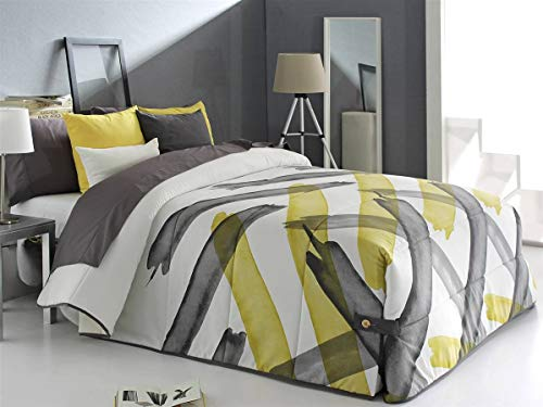 Reig Marti - Edredón conforter Aren 02 Cama 105 - Color Gris C08