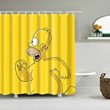 AFDSJJDK duschvorhang durchsichtig Neue Cartoon-Maus-Muster wasserdicht 3D-Duschvorhang niedliche Tiere Duschvorhang mit Haken für Badezimmerdekoration Geschenke
