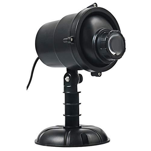 OFAY Luces De Proyector LED De Navidad para Exteriores, Luz De Proyección Giratoria 3D con Árboles De Navidad, Estrellas, Patrón De Copo De Nieve, Impermeable con Control Remoto para Decoración