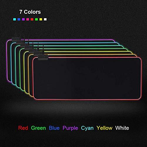 Viesky voor PC Laptop Desktop Notebook Accessoires RGB 7 Kleurrijke Lichtgevende Mousepad Gaming LED Verlichting Muis Mat A