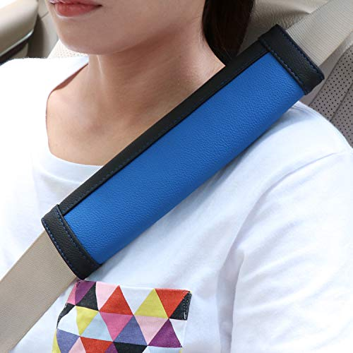 SEG Direct Black and Blue Seat Belt Pads Pack of 2