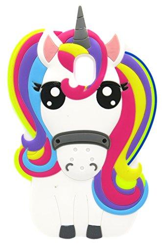 Fundas Samsung J5 2017 Silicona Unicornio, Carcasas Samsung J5 2017 Silicona Unicornio, Funda de Silicona Animales Suave Unicornio 3D para Fundas Samsung Galaxy J5 2017 J530 Carcasas Dibujos Animados