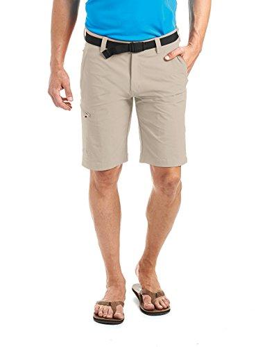 MAIER SPORTS Herren Bermuda, Outdoorhose/ Funktionshose/ Shorts inkl. Gürtel, bi-elastisch, schnelltrocknend und wasserabweisend, Grau (feather gray/743), Gr. 48