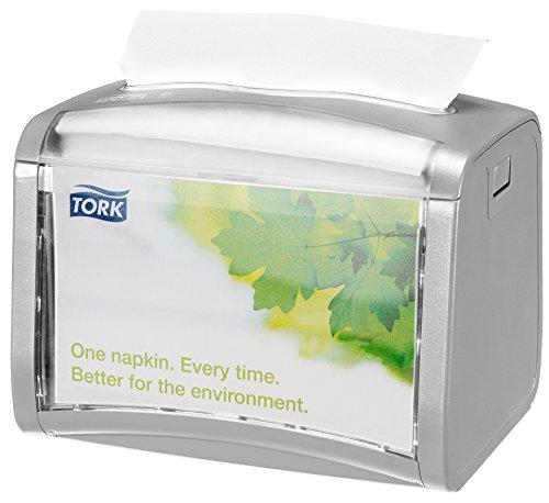 Tork 272613 Dispensador de servilletas de sobremesa/Ideal para restaurantes/Compatible con el sistema N4 / Gris claro
