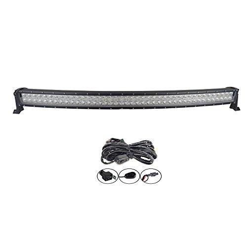 Auxtings - Barra de luces LED curva de 42 '' con focos y reflectores - 240 W - Luces de carretera o luces antiniebla - Para vehículos todoterreno, SUV, Quad, camión, 4x4, barco