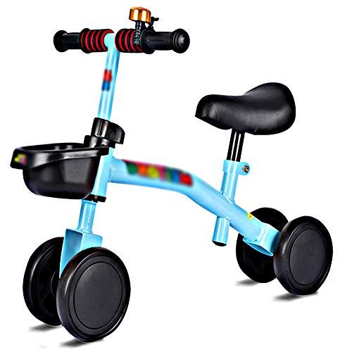 Kinderlaufrad, Kinder Baby Laufräder 4 Rädern Lauflernrad Balance Bike mit Robustes Laufrad für 1-3 Jahre für Jungen und Mädchen rutschfest Fahrrad ab Balance Bike aus Stahl Blue