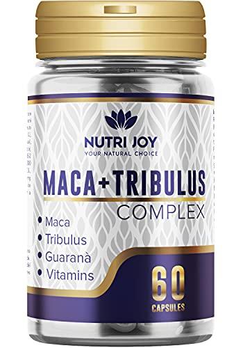 Suplemento para hombre potente | Maca Tribulus Terrestris, guaraná y vitaminas | aumento de fuerza para hombre con complejo de vitaminas