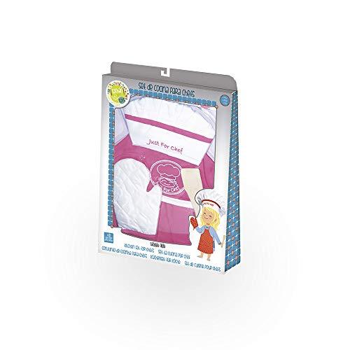 Tachan- Set De Cocinero para Chefs con Delantal Rosa Y Gorro, Color (CPA Toy Group Trading, S.L. 72920615)