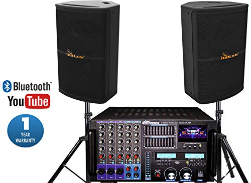 Best Price IDOLpro 8000W IP-6000 II Professional Mixing Amplifier Plus IPS-P10 Speakers and Stand Ka...