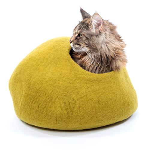 Mimi's Daughters Mustard Cat Cave Bed, Premium, Luxury,...
