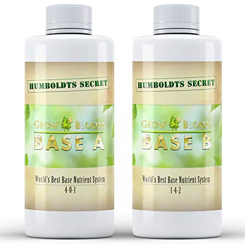 Humboldts Secret Base A & B Bundle – World's Best Base Nutrient System – Liquid Nutrient/Fertilizer for Indoor Plants – Supports Vegetative and Flowering Stages of Plants – Set of 8 Ounces