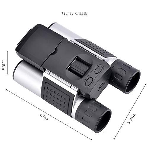 Dreamy 1.5' LCD HD Digital Binoculars Camera 10x25 5MP Video Photo Recorder Telescope with 32GB Memory Card for Bird Watching Football Game Concert