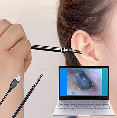 WYQ Herramienta de Limpieza de oído USB HD Cuchara de oído Visual Oreja Multifuncional con Mini cámara Pluma Cuidado de oído Oído Endoscopio de Limpieza del endoscopio
