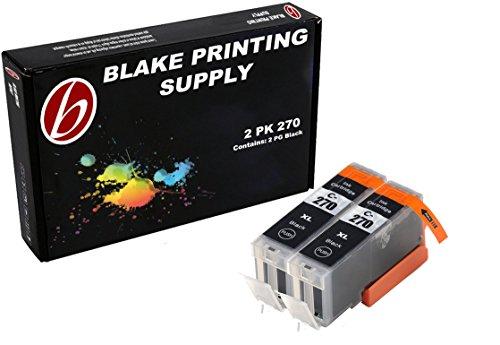 Blake Printing Supply 2 Pack Ink Cartridges for PIXMA 270, PGI-270, PGI-270XL 2 Big Black