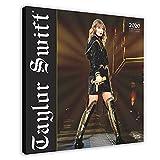 Affiche sur toile Pop Singer Taylor Swift Scène de concert vintage Art Décoration de chambre à coucher Paysage sport Bureau Décoration Cadre cadeau 40 × 40 cm