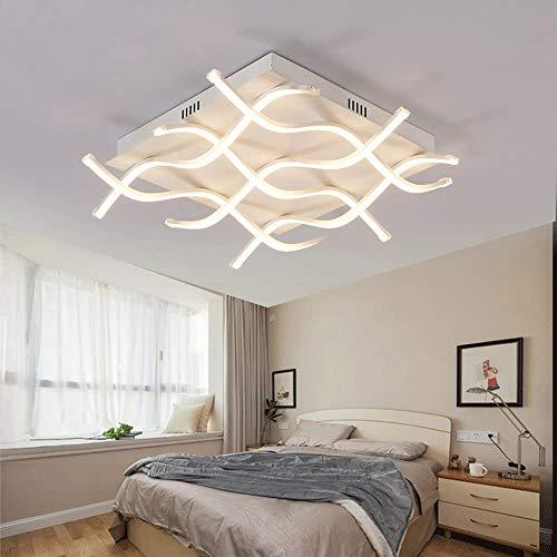 CLEAVE WAVES 70W LED-Deckenleuchte Dimmbar Mit Fernbedienung, Moderne Kreative Dekorative Beleuchtung Acryl Schatten Für Die Familie Esstisch Wohnzimmer Schlafzimmer Ø60cm