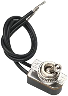 Gardner Bender GSW-125  Electrical Toggle Switch, SPST, ON-OFF,  6 A/125V AC, 6 inch Wire Terminal