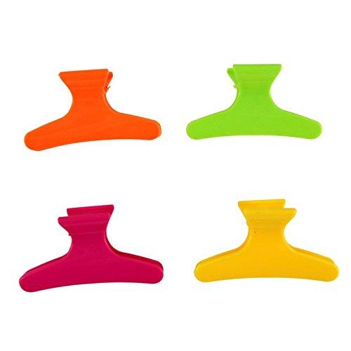 Lot de 4 couleurs vives Coiffure Pinces pour Cheveux Colliers de serrage Grips