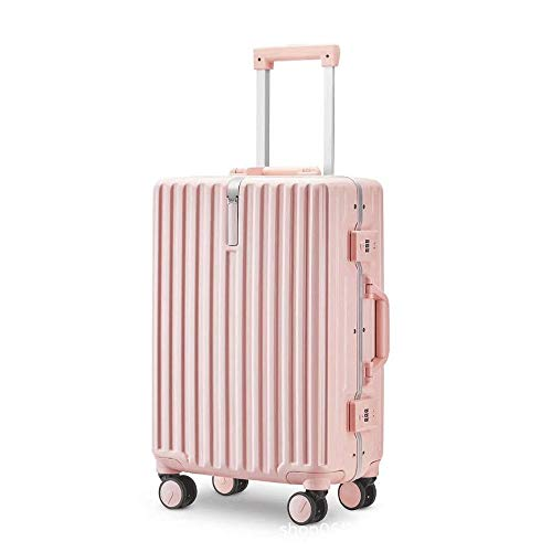 Ange-Y Luggage aluminum frame trolley case new combination lock suitcase female universal wheel Korean version suitcase waterproof, ear-resistant,anti-theft,anti-seismic,shipping box