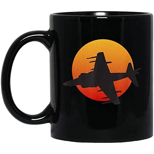 Taza Día de los veteranos de la historia militar de Harrier Jump Jet Aircraft Aficionados a la aviación