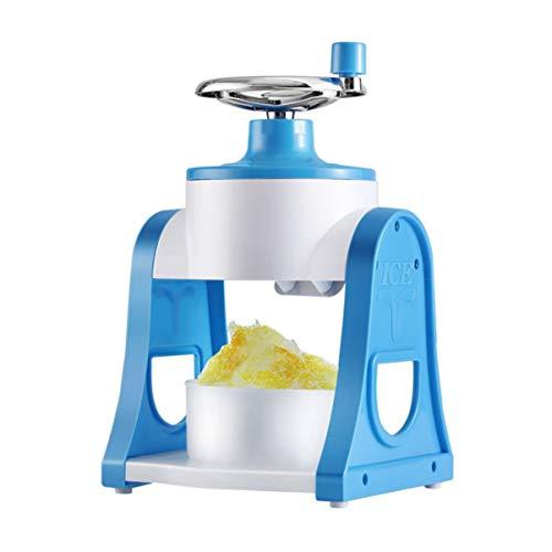 Cabilock – Máquina de trituração de gelo manual, máquina de cone de neve para uso doméstico na cozinha, azul