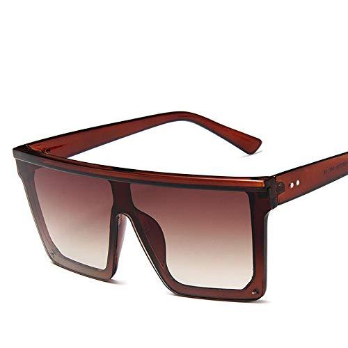 OcchialidaSoledaUomo Occhiali da Sole di Lusso Donna Occhiali da Sole Trasparenti Oversize Uomo Vintage Flat Top Eyewear Uv400 15