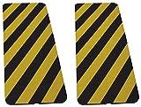 2 Protectores de Espuma Praragolpes de garaje (pared, columnas y esquinas) Amarillo-negro (30x70x2cm.)